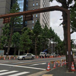神田警察通り樹木伐採